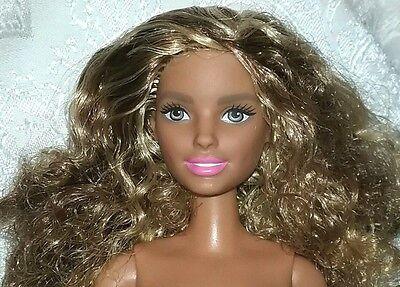NEW! Barbie Hispanic Doll Curly Brown & Blonde Hair NUDE for OOAK
