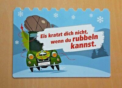 1 Edgar Plastik-Postkarte als Eiskratzer | Nr. 21658 Werbekarte Karte Promo