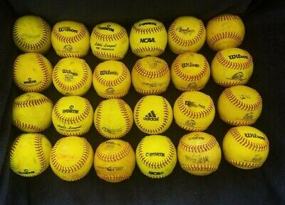 Franklin Sports Practice Softballs Official Size and Weight Softball