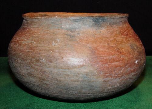 """Pre-Columbian Native American Mogollon Large Red Ware Pottery Pot 7 1/2"""" Dia."""