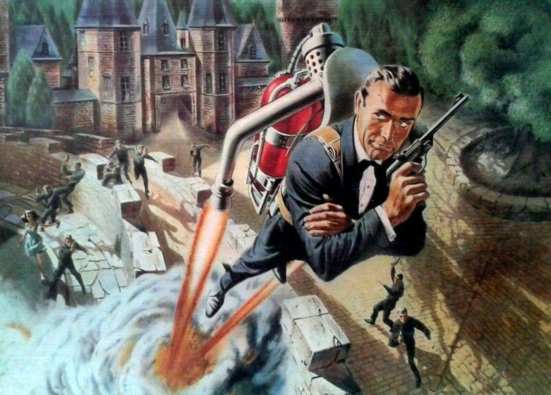 JAMES BOND 007 THUNDERBALL SEAN CONNERY 11x17 JET PACK ARTWORK ART POSTER PRINT