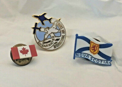 Canadian Shearwater International Airshow, Nova Scotia, Canada Hat Pins 1990s