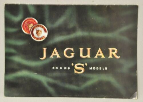 "Jaguar 3.4 & 3.8 ""S"" model  Brochure"