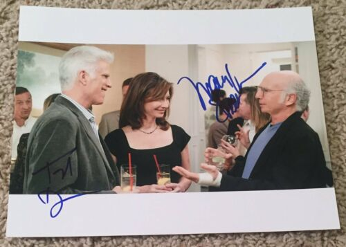 TED DANSON MARY STEENBURGEN SIGNED CURB YOUR ENTHUSIASM 8x10 PHOTO w/EXACT PROOF