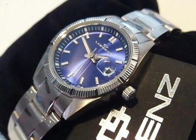 Reloj Mujer LORENZ, Brazalete Acero, Azul Eléctrico, Caja Pequeño 25mm, Fecha ,