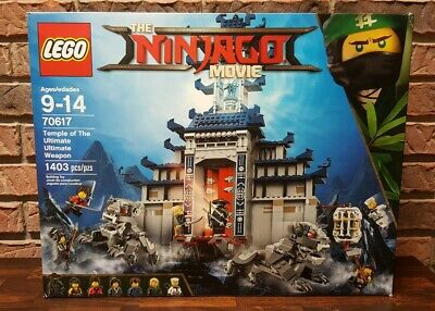 LEGO 70617 Ninjago Movie Temple of The Ultimate Ultimate Weapon 1403 pieces, NEW