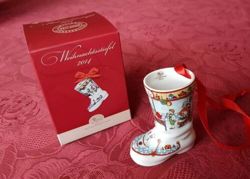 Hutschenreuther Weihnachtsstiefel  2014  Motiv  Küche  Neu OVP Porzellan