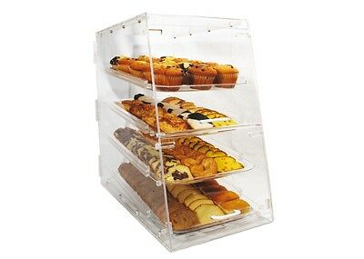 Winco Adc-4 14x24x24-inch Clear Acrylic Countertop Display Case With 4 Trays