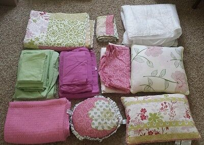 Flower Extra Long 14 pc Twin Bedding Set - Perfect for College