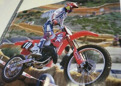 Affiche huile motul moto cross supercross honda cr greg albertyn r.s.a. 80x60 cm
