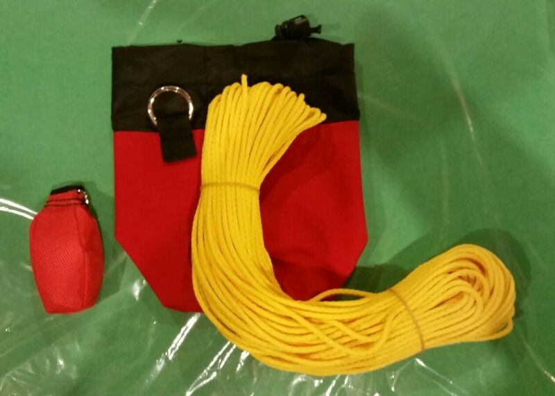 Throw Line Kit  Rope Bag , weighted throw Bag and 150