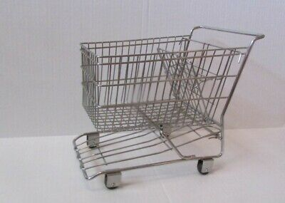 Vintage Metal Realistic Replica Shopping Cart 11 X 11