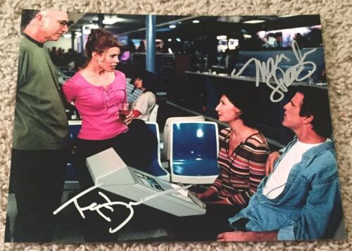 TED DANSON & MARY STEENBURGEN SIGNED CURB YOUR ENTHUSIASM 8x10 PHOTO w/PROOF