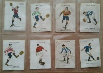 10 diff Godfrey Phillips BDV cigarette silks football league colours med brown