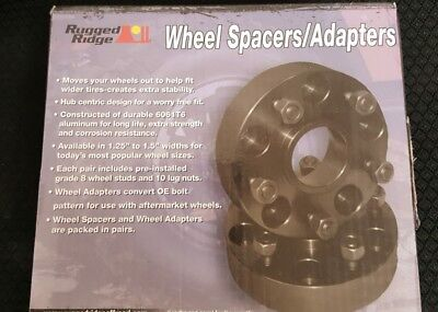 Rugged Ridge 15201.06 Wheel Spacer Kit Fits 07-18 Wrangler (JK)