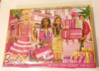 New NIB Sealed 2014 Barbie Mattel Advent Calendar 24 Toy Fashion & Accessories