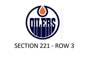OILERS TICKETS - PRICED TO SELL - GREAT SEATS!