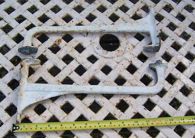 Vintage heavy duty Dauntless cast iron sink brackets 13 x 5.1/2