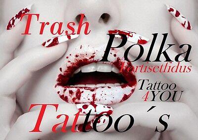 Tattoovorlagen Dvd Trash Polka motive Tattoo  Neu Trend 2016 Flash Motive Top