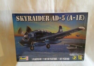 Used, NEW Revell Skyraider AD-5 (A-1E) model kit 1/48 scale Skill 2 /Sealed New for sale  Wabash