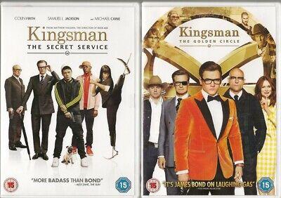 Bundle of 2 Kingsman DVDs - The Secret Service & The Golden Circle