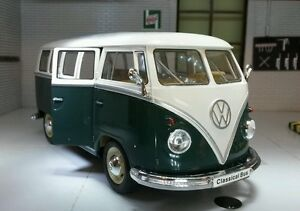 VW Samba T1 Dormobile Camper Bus Van Welly 1:24 Scale Diecast Detailed Model
