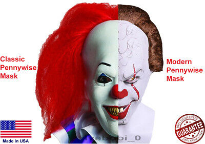 Pennywise IT Masks Vintage/Modern Stephan King Halloween Scary Clown Cosplay USA (Scary Vintage Halloween Masks)