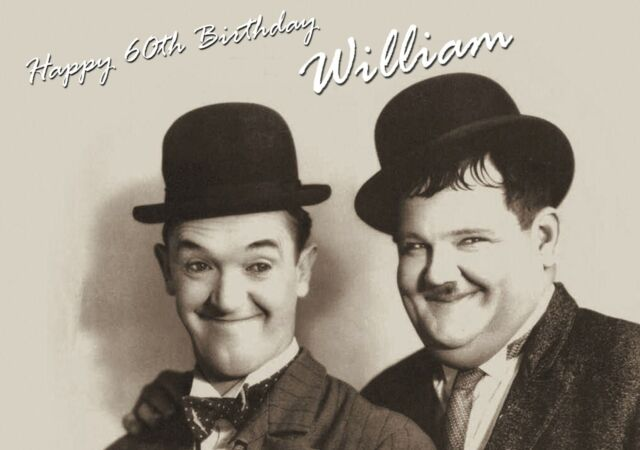 Personalised Laurel and Hardy Birthday Card – Laurel and Hardy Birthday Cards