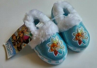 Tv Toddlers (Disney Frozen Baby Girl Toddler Slippers Elsa Anna 5/6 Shoes Movie Christmas)
