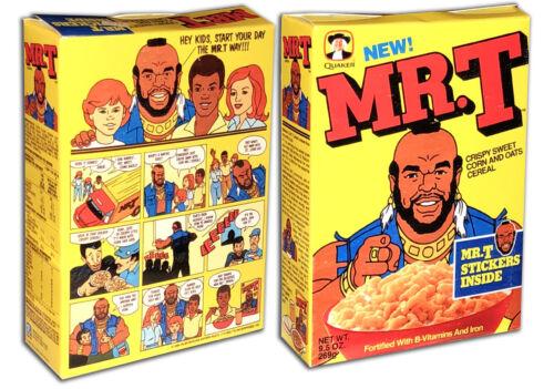 Quaker MR. T Cereal Box
