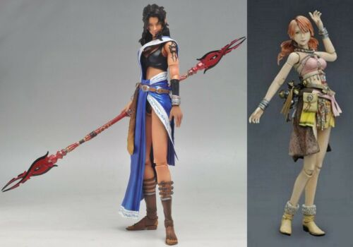 Square Enix Final Fantasy Play Arts Kai: Oerba Yun Fang & Vanille Figures Loose