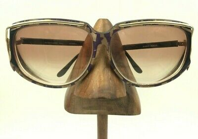 Vintage Sunshade XIII Black Purple Gold Oversized Oval Sunglasses Frames (Thirteen Sunglasses)