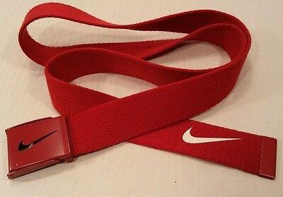 Men's NIKE GOLF Red Nylon BELT Adjustable Sz UP to 47
