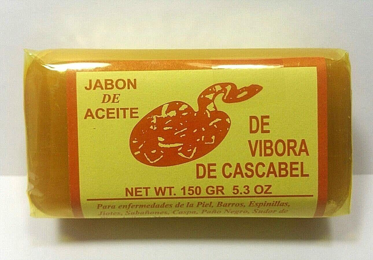 3 Rattlesnake Vibora de Cascabel 150 Capsules + 3 Jabon Vibora Cascabel 4.93 oz 1