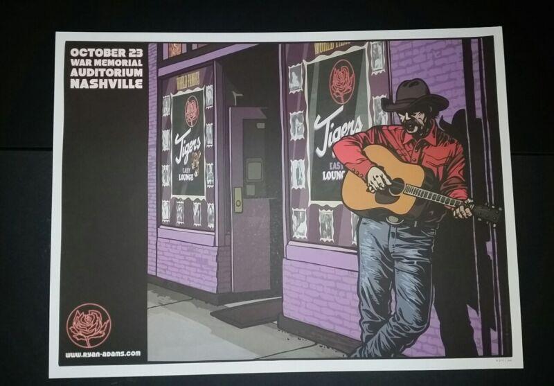 RYAN ADAMS Nashville Numbered #/300 2012 Tour Poster Cardinals Lithograph Print
