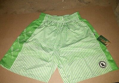 NWT Flow Society Adult large L FRAGMENT lime green Lacrosse Shorts