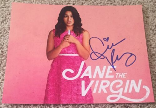 GINA RODRIGUEZ SIGNED AUTOGRAPH JANE THE VIRGIN 8x10 PHOTO D w/PROOF