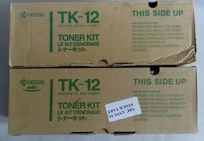 1600 Toner-kit (Kyocera TK-12 Toner Kit x 2 Cartridges Ecosys FS1550 FS1600 FS3400 Genuine TK12)