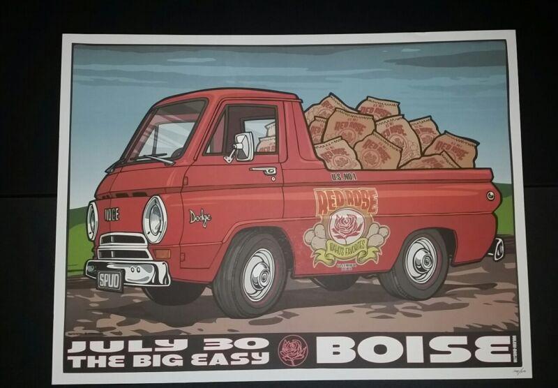 RYAN ADAMS Boise 2012 Numbered #/300 Tour Poster Cardinals Lithograph Print