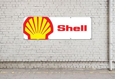 SHELL LOGO  workshop, garage, office or showroom pvc banner