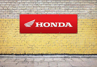 HONDA MOTORBIKE logo sign for workshop, garage, office or showroom pvc banner