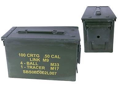 US Munitionskiste Größe 2 oliv gebraucht 30,5 x 15,5 x 18,7 Werkzeugkiste Box