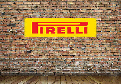 PIRELLI TYRES LOGO workshop, garage, office or showroom pvc banner