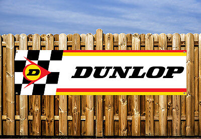 DUNLOP RACING LOGO  PVC BANNER - FOR WORKSHOP, GARAGE & BEDROOM