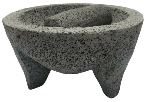 Authentic Ethnic Mexican Molcajete Made of Volcanic Lava For Cooking