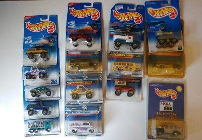 NEW SEALED VTG Lot of 15 Hot Wheels 1991 thru 1998
