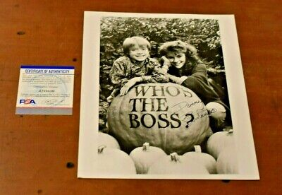 1986 DANNY PINTAURO Signed WHO'S THE BOSS 8x10 Inch Promotional Photo-PSA