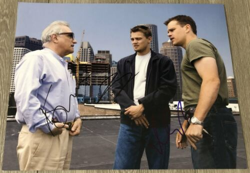 LEONARDO DICAPRIO SCORCESE & DAMON SIGNED THE DEPARTED 11x14 PHOTO w/EXACT PROOF