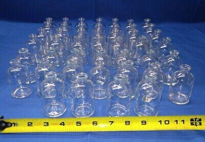 Vintage Lot Of 46 Glass Vials Medicine Bottles Scientific Flask Petri Dish Jar
