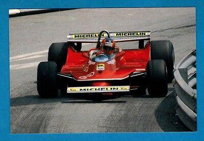 F1 Postcard ~ Ferrari T5: Gilles Villeneuve: Monte Carlo '80: Niccolini of Italy